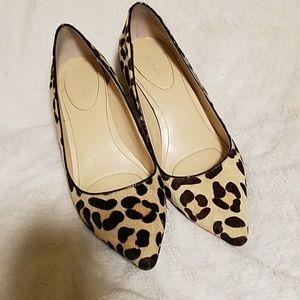 Calvin Klein leopard pumps